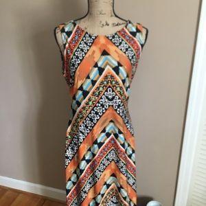 ECI maxi dress w open back.